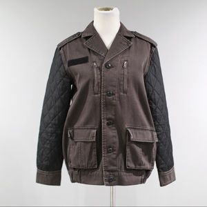 BDG Quilted Sleeve Surplus Jacket Womens Small